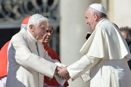 Pope Francis and Benedict XVI