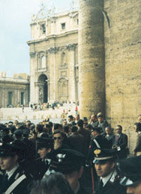Policemen before the Bronze Gate