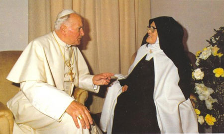 John-Paul II and sister Lucy