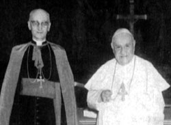 Msgr. Duval and pope John XXIII