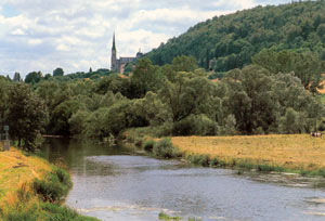 The banks of the Meuse at Domermy.