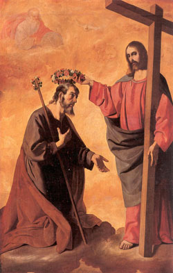 Coronation of saint Joseph, Zurbarán.
