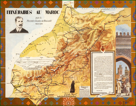 The itinerary of Charles de Foucauld in Morocco.