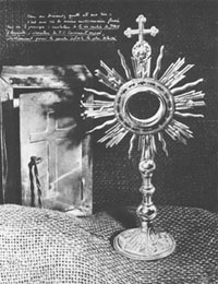 Father de Foucauld's tabernacle and monstrance.